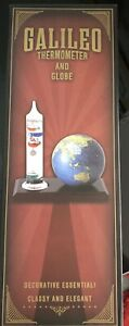 Galileo Thermometer with Glass Globe Barometer Temperature and Weather New