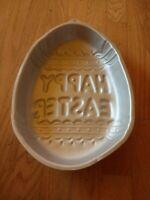 1983 WILTON Easter Egg HAPPY EASTER Aluminum Cake Pan #502-3495