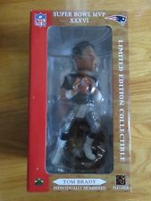 Rare TOM BRADY No. 12 NEW ENGLAND PATRIOTS Super Bowl XXXVI MVP Bobble Head LTD