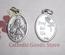 "Saint St. Therese (Little Flower) - Ox Die Cast Italian Silver Tone 1"" Medal"