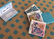 LPS *TURQUOISE* Nintendo DS Gaming + 3 Games Littlest Pet Shop Accessories Lot
