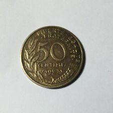 50 centimes LAGRIFFOUL 1963 col 3 plis Num7