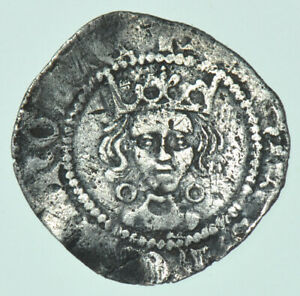 HENRY VI PENNY (1422-1430), CALAIS MINT BRITISH SILVER HAMMERED COIN VF