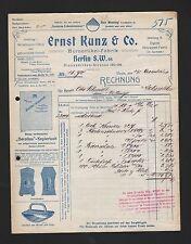 BERLIN, Rechnung 1911, Ernst Kunz & Co. Büroartikel-Fabrik