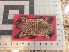 "Antique Tobacco Felt Flannel 5X8""  Leopard  ""rug"" Good Original Condition"