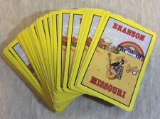Vintage Branson Missouri Playing Cards Waltzing Water Hillbilly Guitar No Box