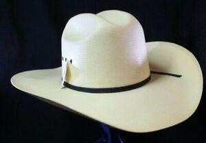 RESISTOL  All Around Straw Cowboy Hat Cowboy Hat 7 1/8 Long Oval NWT