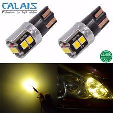 2X Yellow T10 W5W 168 175 CANBUS 6W LED Car Automotive Light Lamp 12V 24V Bulb