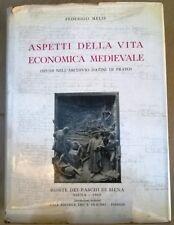 ASPETTI DELLA VITA ECONOMICA MEDIEVALE F.Melis 1962 MEDIOEVO ECONOMIA STORIA