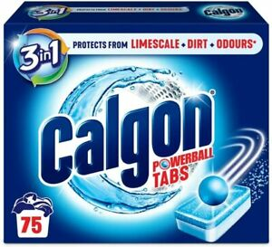 Calgon 3-in-1 Washing Machine Cleaner & Water Softener 75 Tabs, Tablets UK Stock