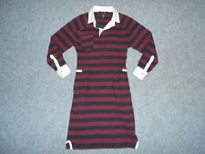 ISABEL MARANT WOMENS 2 JERSEY STRIPED RUGBY SHIRT DRESS                       B4