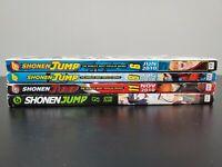 Shonen Jump Naruto 3 2010 issues #6 June ,#8 August ,#11 November and 1 2011 #2