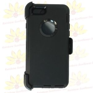 For iPhone 6/6S Plus Black Case Cover {Belt Clip Holster fits Otterbox Defender}
