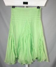 New Max Studio Apple Green Mermaid Boho Silk Midi Skirt - Size 2