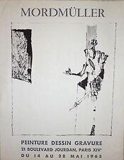 Rainer Gottlieb Mordmuller affiche litho 1965 Atelier Friedlaender  Berlin