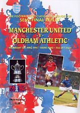 F A CUP SEMI 1994 REPLAY MAN UTD OLDHAM MINT PROGRAMME MANCHESTER