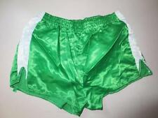 VINTAGE Short PUMA nylon vert Saint-Etienne glanz shinny satin XS 75 brillant