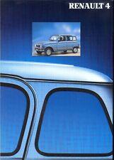 RENAULT 4 TL, GTL 4X4 1990 francese delle vendite sul mercato opuscolo