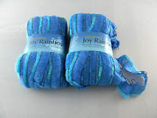 Lot 2 Skeins Plymouth Yarn Joy Rainbow Color 12 Blue