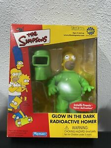 The Simpsons Toyfare Radioactive Homer Glow in the Dark Playmates Figure Talking
