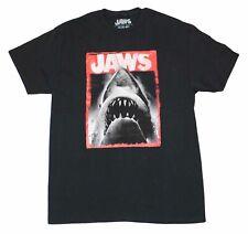 Universal Studios Movie Jaws One Sheet Vintage Classic T-Shirt Tee Black New Men