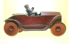 "ANTIQUE TIN FRICTION TOY CAR WITH DRIVER - RARE - SOME WEAR - 8"" LONG-BEST OFFER"