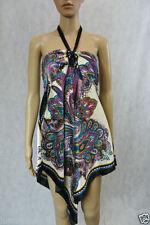 Asymmetrical Hem Paisley Regular Size Dresses for Women