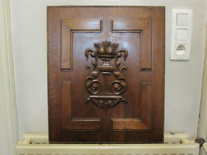 pair off beautifull walnut carved pannels    19 th century