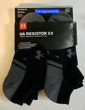 Adult Under Armour Resistor 3.0 No Show Socks Black  Size Large #1282424-001