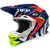 2017 UFO Interceptor 2 Motocross MX Enduro Helmet - Flash - Blue Red Yellow