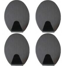 4 Handtuchhalter Edelstahl Wandhaken Klebehaken Handtuchhaken groß oval
