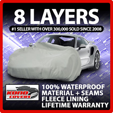 8 Layer Car Cover Indoor Outdoor Waterproof Breathable Layers Fleece Lining 6203