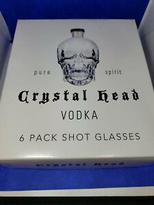 6 Skull Crystal Head Vodka Shot Glasses