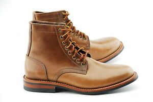 NEW W BOX | OAK STREET BOOTMAKERS 8.5D NATURAL CHROMEXCEL TRENCH BOOTS