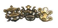 Lot 6 Antique Brass Ornate Decorative Vintage Drawer Cabinet Pulls FD / KBC