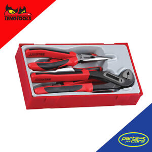 TT440-T - Teng Tools - 4 Piece Plier Set