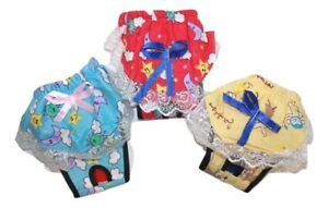 Dog Puppy Diaper Sanitary Pants Skirt Lace Female Girl Flannel For SMALL Pet