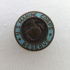 Vintage Pre-War U.S. Marine Corps Reserve Button Hole Pin Blue Enamel