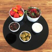 Round Serving Mats, Centerpiece / Table Protectors in Black Acrylic