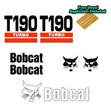 Bobcat T190 TURBO Skid Steer Set Vinyl Decal Sticker 7 PC SET + FREE APPLICATOR