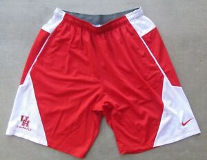 NIKE DR-FIT HOUSTON COUGARS NCAA COLLEGE FOOTBALL RED WHITE SHORTS SIZE XLARGE