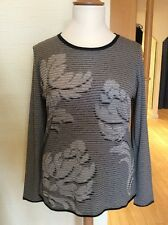 Olsen Sweater Size 16 BNWT Navy Taupe And Cream Stripe RRP £89 NOW £36