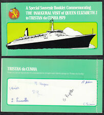 TRISTAN da CUNHA 1979 ☀ blank booklet with stamps from booklet 1972 ☀ 5 x 5v MNH