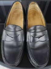 ALLEN EDMONDS CAMERON Mens Black Leather Penny Leather Loafers Shoes Size 7 EEE