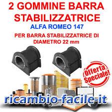2 GOMMINE BARRA STABILIZZATRICE ALFA 147 156 DIAMETRO 22 X CODICE ORIG. 51754198