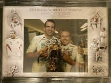 More details for signed framed jonny wilkinson martin johnson england 2003 rugby world cup photo