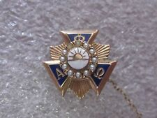 Vintage 1958 10k Solid Gold Alpha Phi Omega Fraternity Pin w/S Guard
