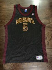 Vintage Champion Minnesota Golden Gophers #5 NCAA Basketball Jersey Mens Size 52