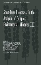 Short-Term Bioassays in the Analysis of Complex Environmental Mixtures-ExLibrary