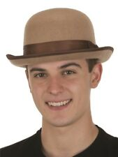 Men's Roaring 20's Tan Felt Derby Brown Bowler Top Hat Nucky Costume Accessory